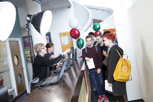 student registering